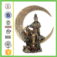 factory custom-made handmade carved fashion resin kuan yin statues