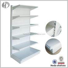 adjustable wall mounted shelving, single sided supermarket shelf, gondola