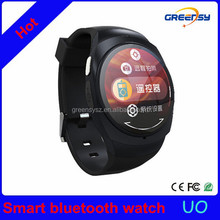 GR-UO NFC Round Bluetooth Sport Smart Watch Sleeping Monitor Remote Control NFC Support Android iOS For gifts
