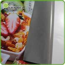 100mic 120gsm 4oz design curve advertising grey glue glossy PVC vinyl paper for advertising