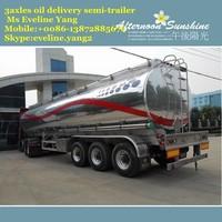 new design custom oil tank truck /3 axles oil tanker seimi-trailer