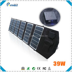 hottest power kit 39W sunpower folding solar panel for laptop, tablet, smartphone camping travelling tc