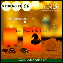 Halloween Flameless Yellow Witch Hat Electric LED Candle