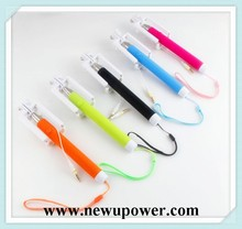 Monopod cable Selfie Stick wire for ipod touch 5 for iPhone or Android and digital camera selfie