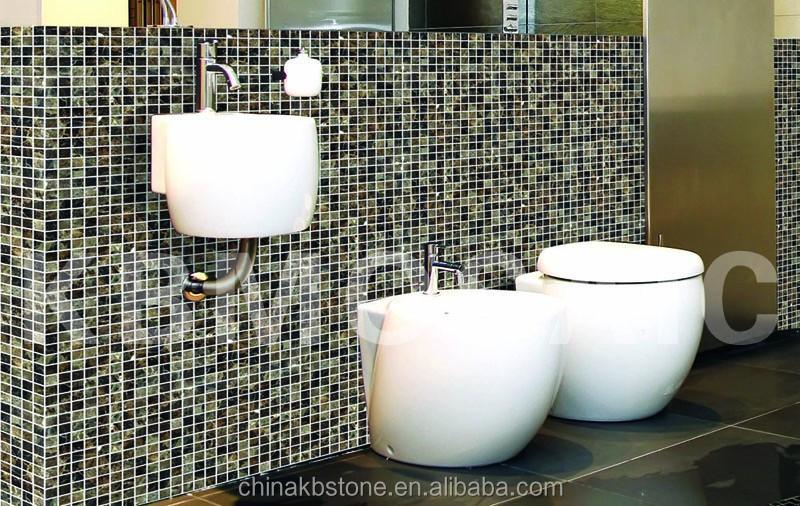 Spagnolo marmo scuro emperador mattonelle di mosaico, pavimenti in ...