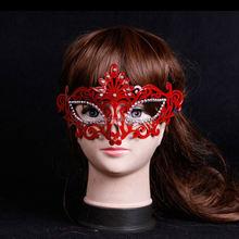 Venta al por mayor pintado silicona mujer máscara de halloween