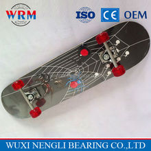 skateboard accessories wooden longboard, four PU wheels adult graphic skateboard