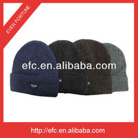 100% Acrylic Knitted Beanie Hat for Man