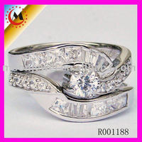 WEDDING PLATINUME RINGS STAINLESS STEEL COUPLE WEDDING RING WITH DIAMOND