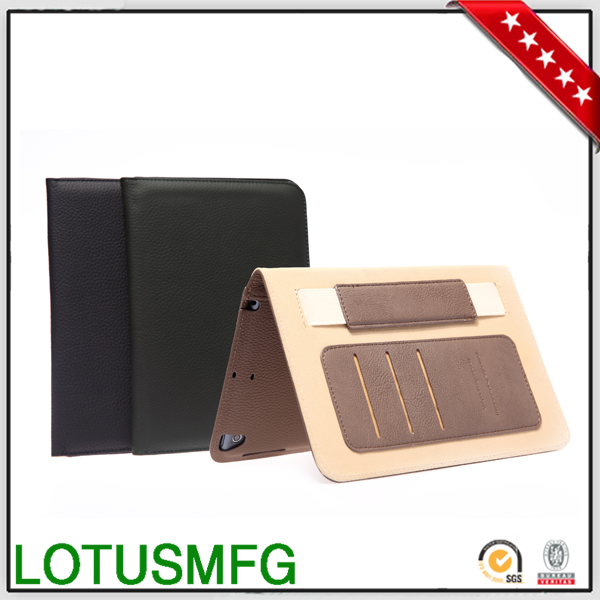 Alibaba China Supplier Gearmax Factory High Quality Fashionable Shockproof Smart Stand PU Leather Case for iPad Covers Wholesale