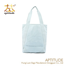Promotion natural canvas reusable shopping bag