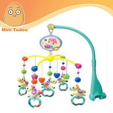 Electric plastic baby mobile bell toys with light and music baby hanging toys bed bell