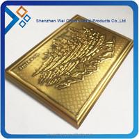 metal fake gold plate badges
