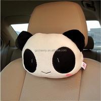 High quality comfortable Cute cartoon Lovely Panda Car Seat Head Neck Rest Cushion Travel Pillow Soft Plush Headrest Pad