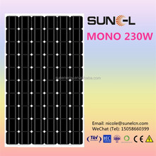 mono 230w solar modules by 60 cells 156*156