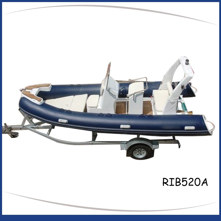 Blue_rigid_inflatable_boat_fiberglass_step_frp_roll_bar_teak-floor_RIB520A