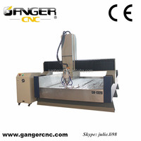 New upgraded Gangercnc heavy duty stone cnc router SH-1325S for stone,wood with dust cover