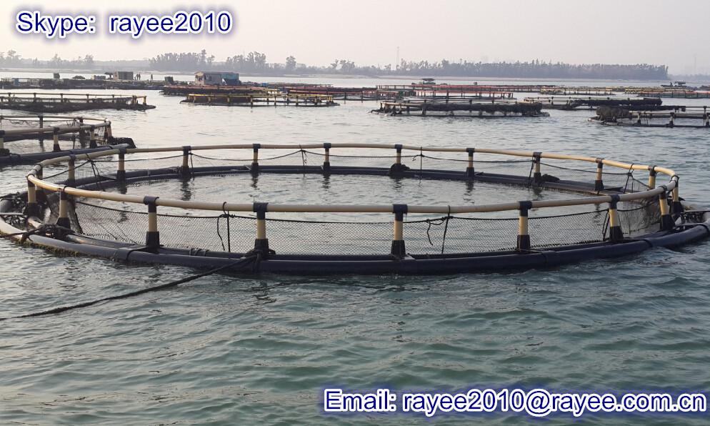 C rculo flotante acuicultura jaulas de cultivo de peces for Construccion de jaulas flotantes para tilapia
