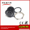 CE 19mm metal black electrical momentary type push button switch with ring led