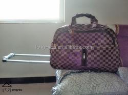 Hot selling nylon cheap polo trolley luggage travel bag,trolley luggage