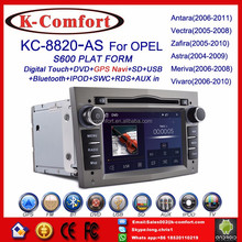 K-Comfort factory supply stock opel vivaro radio dvd car with SWC GPS + Radio + RDS BT+ SD + USB CD/DVD IPOD Aux-in