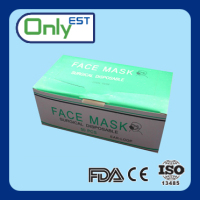 Disposable earloop medical grade dental face mask print for hospital