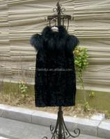 2015 Korean lady's rabbit fur jacket /fashion rabbit fur vest