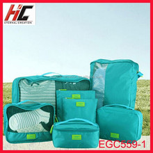 2015 fashion design travel bag set 7 pieces hot selling on alibaba website