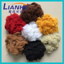 New Arrival ! top quality polyester staple fiber with colors for ty pillow filling,padding,recycled polyester fiberprice