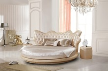 Modern European French Royal Style Round Bed Design Furniture