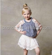 Z59397A LATEST FASHION SUMMER KIDS LACE TSHIRTS