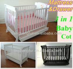 AS/NZS 2172 AS/NZS safety wooden baby bed/baby crib/baby cot TC8033