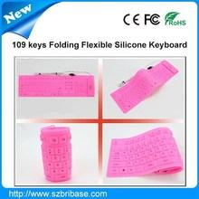 Impermeable 109 teclas Multi-color plegable de silicona mini ordenador portátil el <span class=keywords><strong>teclado</strong></span>