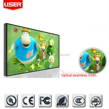 Shock!55 inches true 0mm seamless bezel and FHD LCD video wall with lcd backlight,custom lcd and touch screen
