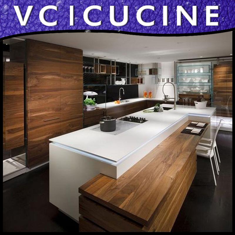 Marmer hout keuken - Luxe marmer ...