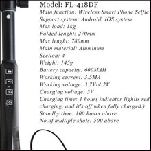 Extendable handheld camera waterproof plain selfie stick