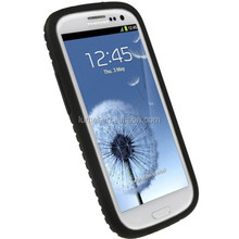 Black Silicone Soft Skin Case Cover With Tyre Tread Design For Samsung Galaxy S3 ,i9300