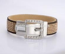 2015 mejor venta señoras nuevo diseño brillante varias imágenes en color de pulsera de oro