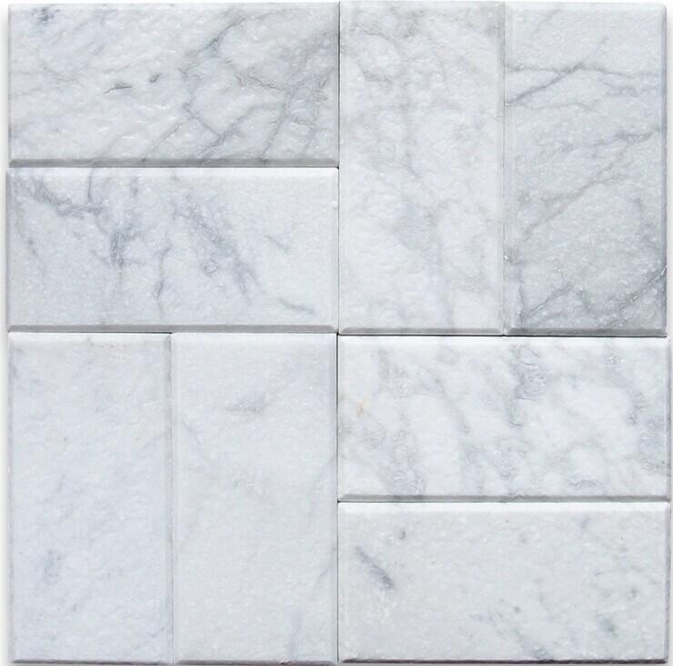 카라라( carrara) 흰 대리석 3x6 지하철 타일 폭락-모자이크 -상품 ID ...