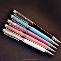 pen logo/metal pen/crystal ball pen plastic manufacturer