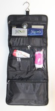 2015 Wholesale promotional high quality black convenience toiletry bag /travel toiletry bag/hanging organizer