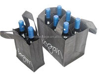 Wholesale Customized Reusable Eco Nonwoven Shopping Wine Bag Wine Bottle Bag Wine Gift Bag