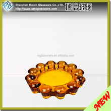 promotion round carved glass ashtray