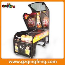 Qingfeng lattest product family folding basketball shooting cheap arcade machines
