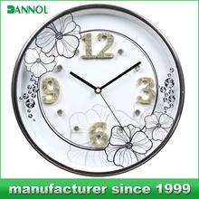 guangzhou china brand name wall clock wedding gifts