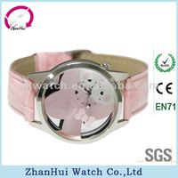 rabbit leather hollow out fancy watches for child watch child watch