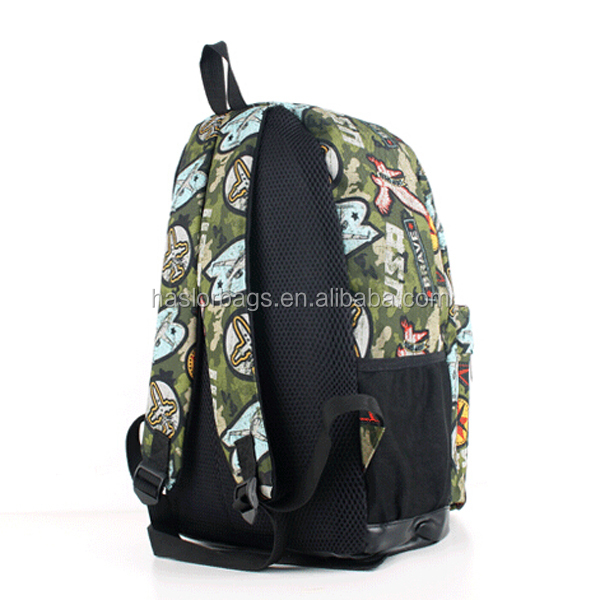 Hot vente pas cher sac d'école imprimé toile de mode sac à dos