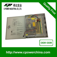 Multi Function Watt Replacement DC12V 10A 9CHs Output cctv power supply