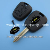 High quality 2 buttons remote key shell for peugeot car key shell peugeot key key blank with X type