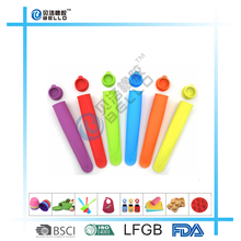 Silicone Vale Ice Pop Molds, Set of 4 Magic Rainbow Colors, Portable Pop Makers for Homemade